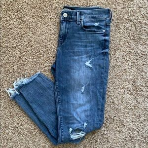 Express distressed ankle jegging